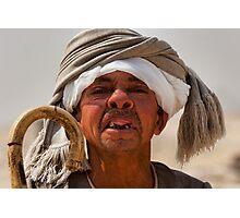 Toothless Egyptian midget man Photographic Print
