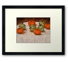 APPLES AND ORANGES Framed Print