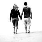 Romantic walk on the beach by csouzas