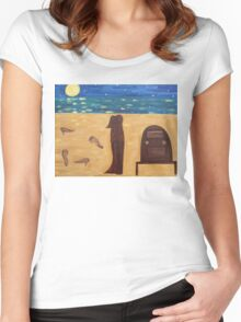 DANCING BAREFOOT ON THE SAND Women's Fitted Scoop T-Shirt