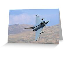 Lowflying Typhoon 02 in The Welsh Hills April 2010 Greeting Card