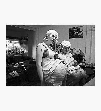 Minda and Kero prepare to perform at Art Unit Photographic Print