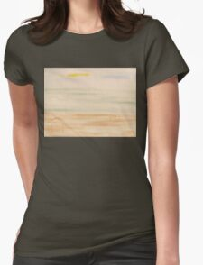 WALKING THE DOG ON THE BEACH Womens Fitted T-Shirt