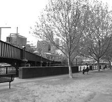 Yarra River Melbourne at South Bank by mackasenior