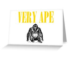 Very Ape T Shirts, Stickers and Other Gifts Greeting Card