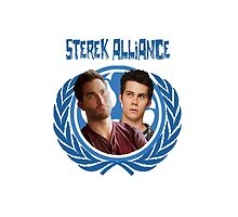 The Ultimate Sterek Alliance II Blue T-Shirt [Back] by thescudders
