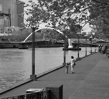 Yarra River at South Bank Melbourne by mackasenior