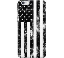 American Flag - Distressed (Black) iPhone Case/Skin