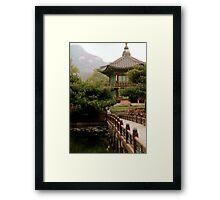 Korean bird Framed Print