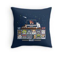 Internet Cat Fight Throw Pillow