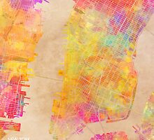 New York city map colored by JBJart