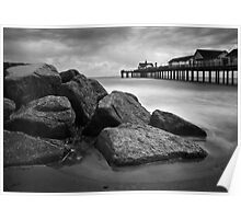 Southwold Pier and Rocks, Suffolk Poster