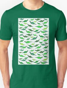 Dinosaurs (shades of green) Unisex T-Shirt