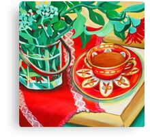 Red Teatime Canvas Print