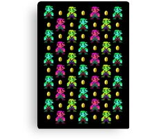 Mario Pattern Canvas Print