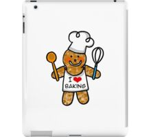 Gingerbread man cookie chef- I love baking iPad Case/Skin