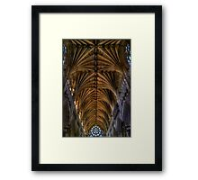 Exeter Cathedral Ceiling Framed Print