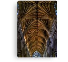 Exeter Cathedral Ceiling Canvas Print