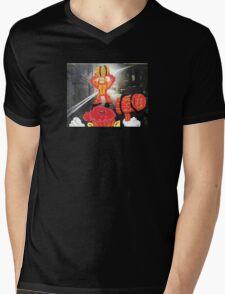Back Alley Brawl Mens V-Neck T-Shirt