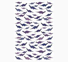 Dinosaurs (shades of purple) One Piece - Long Sleeve
