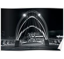 Footbridge over the Yarra - Docklands Victoria Poster