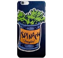 Spinach superfood!! iPhone Case/Skin