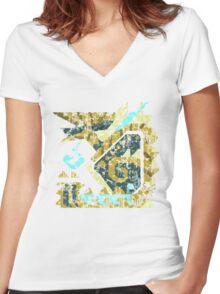 Monster Hunter - Zinogre Icon Women's Fitted V-Neck T-Shirt