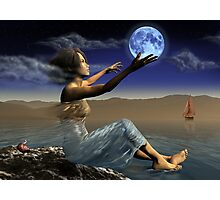 Once in a blue moon Photographic Print