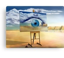 An eye with a view Canvas Print