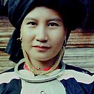 Portrait of a Black Lahu woman, Thailand by John Spies