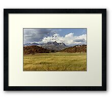Thunderstorm over New Mexico Mountains Framed Print
