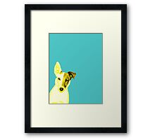 Pop Dog Framed Print