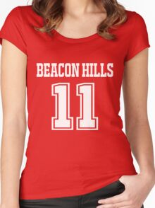 Scott McCall Lacrosse Jersey - Front Women's Fitted Scoop T-Shirt