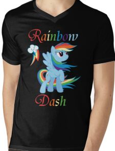 Rainbow Dash T-Shirt Mens V-Neck T-Shirt