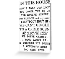 A Sherlockian house Greeting Card