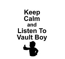 Listen to Vault Boy Photographic Print