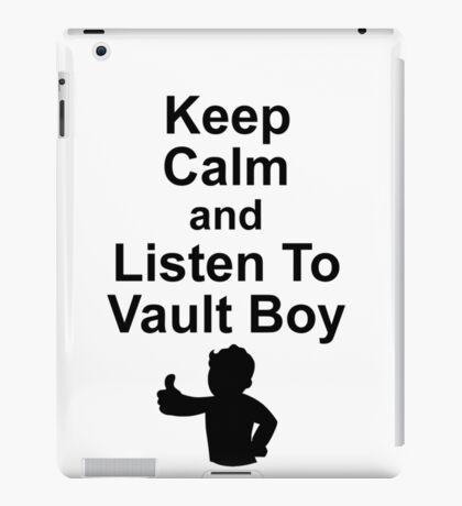 Listen to Vault Boy iPad Case/Skin