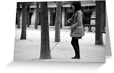 Paris - Dog on the street #13 by Jean-Luc Rollier