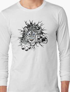 STUCK Snow Leopard (black paw pads) Long Sleeve T-Shirt