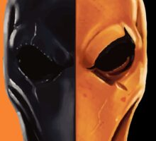 Deathstroke Black/Orange  Sticker
