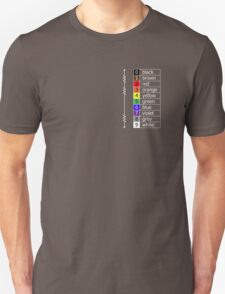 resistor colour codes on black and dark colours T-Shirt