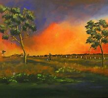 Western Sunset sold 13-9-2012 by sandysartstudio