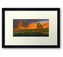 Western Sunset sold 13-9-2012 Framed Print