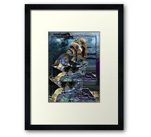 Stained Glass Fish Framed Print