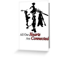 All Hearts are Connected Greeting Card