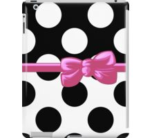 Ribbon, Bow, Polka Dots - Black White Pink iPad Case/Skin