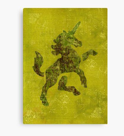 Unicorn Fresco Canvas Print