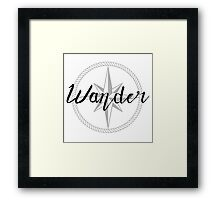 Wander - compass Framed Print