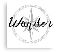 Wander - compass Canvas Print