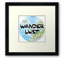 Wanderlust! Rounded Europe Map Framed Print